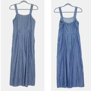 American Eagle Outfitters thin chambray overalls s